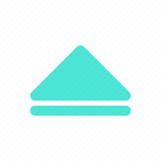 Arrow, direction, media, multimedia, up icon - Download on Iconfinder
