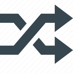 arrow, connector, cross, mix, multimedia, music, squares icon