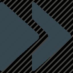arrow, audio, direction, fast, forward, multimedia, next icon