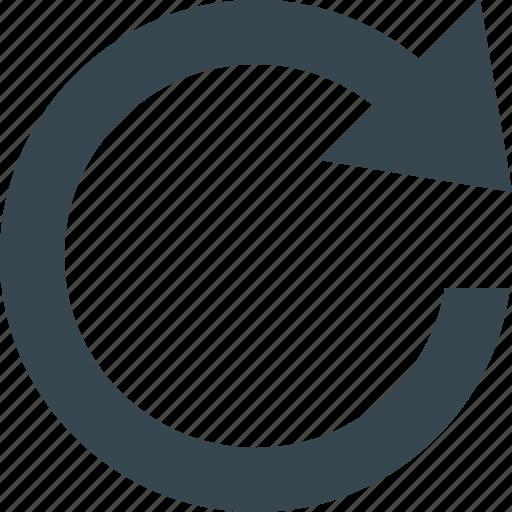 clockwise, configuration, control, multimedia, options, rotate, settings icon