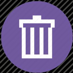 bin, can, delete, junk, recycle, remove, trash icon