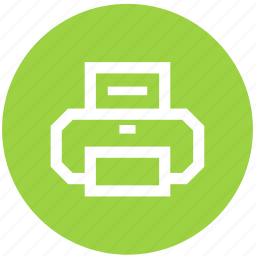 circle, copier, office, print, printer, printing, tool icon