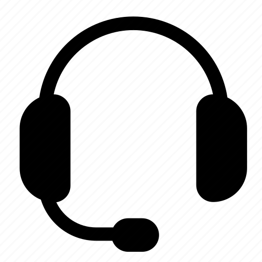 char, contact, headset, minimalist, support icon