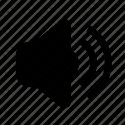 high, minimalist, sound, speaker icon