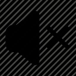 minimalist, mute, sound, speaker icon