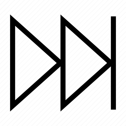 controls, end, last, next, playlist, triangle icon