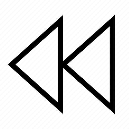 arrow, back, controls, reverse, rewind, triangle icon