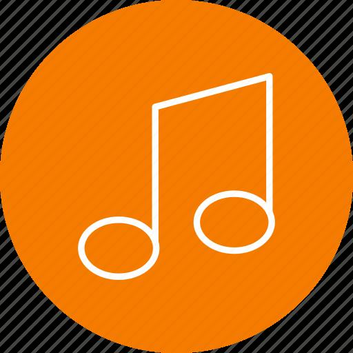 audio, media, music, music note, player, sound, speaker icon