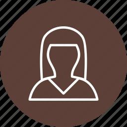 avatar, female, female avatar, people, person, profile icon