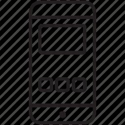 mobile, multimedia, smartphone icon