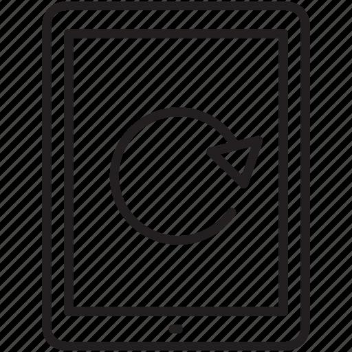 flip, multimedia, right, tab icon