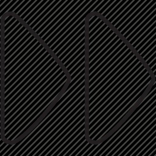 fast forward, forward, multimedia icon