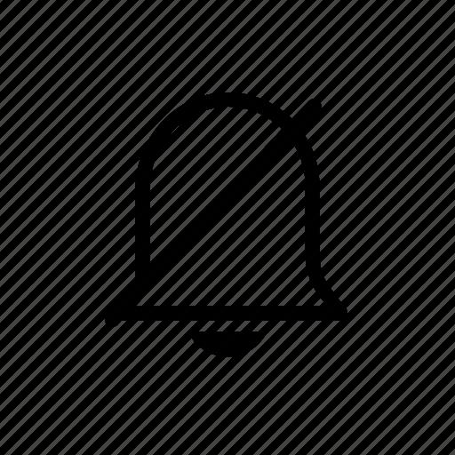 alert, bell, mute, notification icon