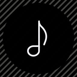 audio, media, multimedia, music, musicnote, photography, video icon