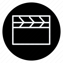 audio, clapperboard, media, multimedia, music, photography, video icon