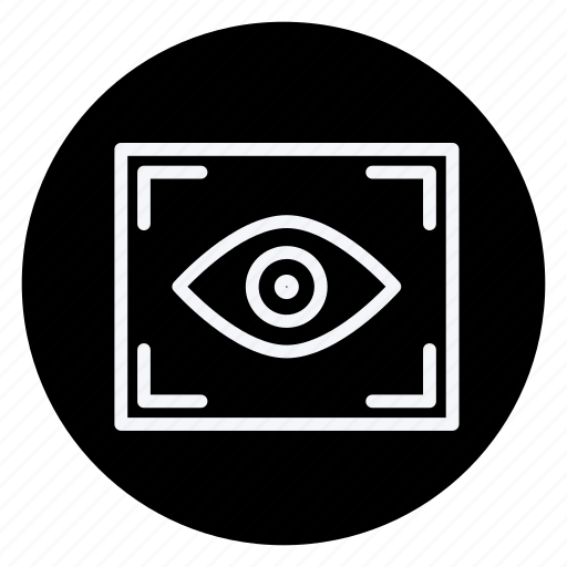 audio, camera lens, eye, media, multimedia, photography, video icon