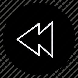 audio, backward, media, multimedia, music, photography, video icon