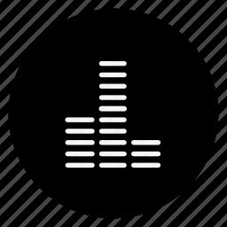 audio, equalizer, media, multimedia, music, photography, video icon