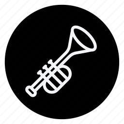 audio, media, multimedia, music, photography, trumpet, video icon