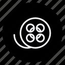 audio, media, multimedia, music, photography, reel, video icon