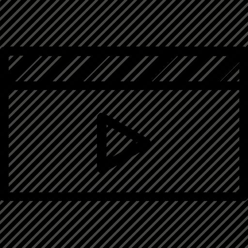 cinema, clapboard, clapper, director, multimedia icon