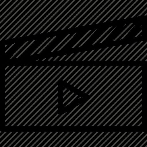 Clapper, director, clapboard, multimedia, cinema icon