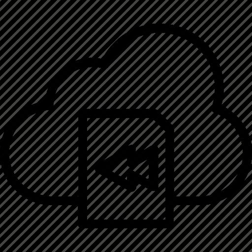 arrow, backward, interface, multimedia, return, ui icon