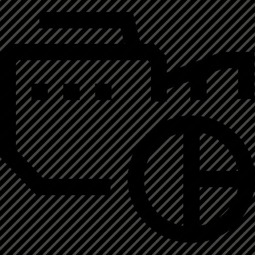 camera, chart, mobile, percentage, photo, pie, video icon