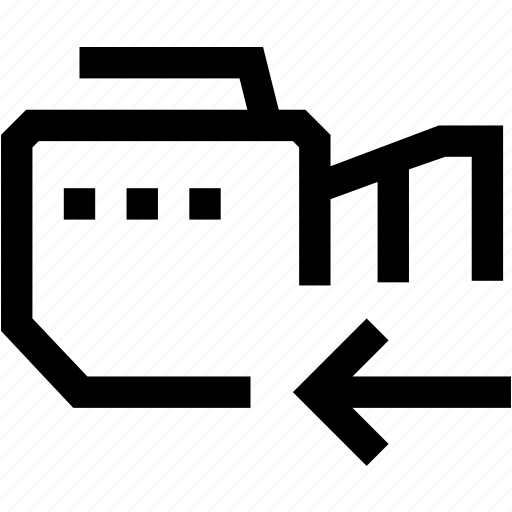 arrow, camera, left, mobile, phone, photo, video icon