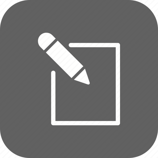 edit, paper, pen, pencil, write, writing icon