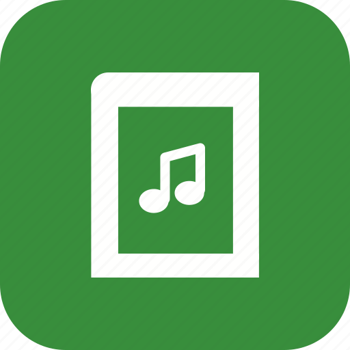 ebook, music book, music education, music library icon