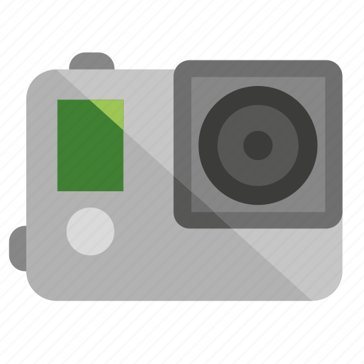 action camera, actioncamera, camera, film, filming, gopro, movie, photo, photography, video icon
