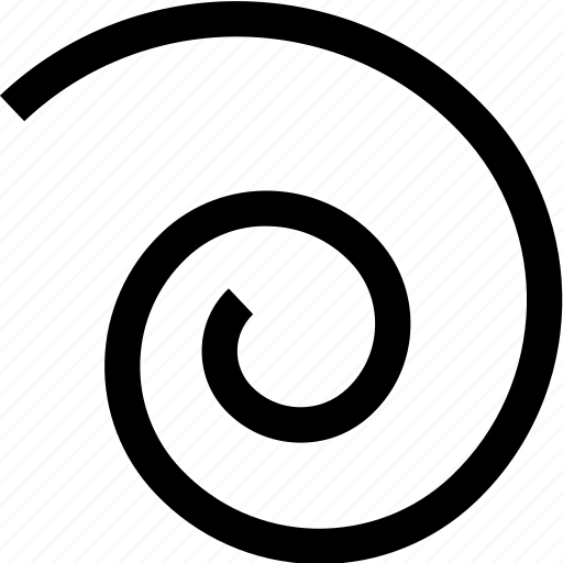 design, edit, rotation, spiral, tool icon
