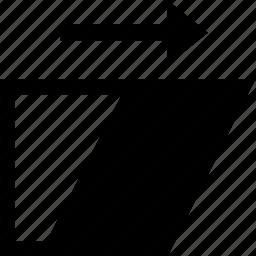 box, file, folder, paper, shear, sheet, tool icon