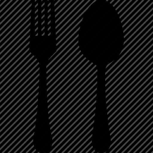 cutlery, fork, setting, spoon icon