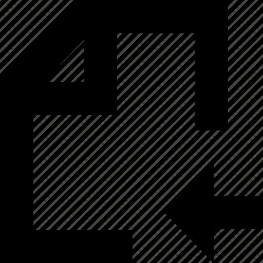 arrow, documen, file, folder icon