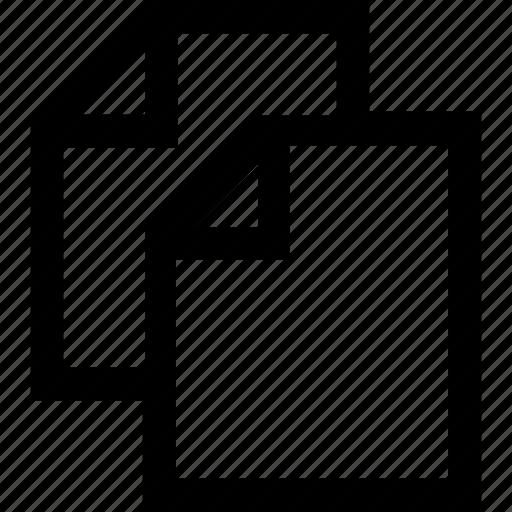 copy, document, file, folder, letter icon