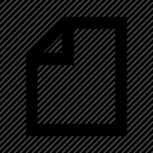 document, file, folder, letter icon