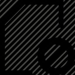 document, failed, file, folder icon