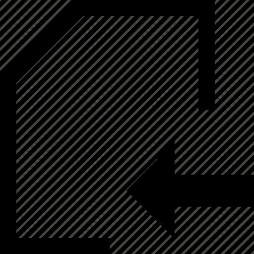 arrow, document, file, folder, right icon