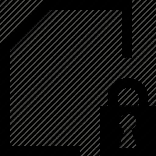 document, file, folder, lock icon