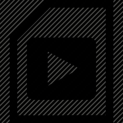 documen, file, folder, music, play icon