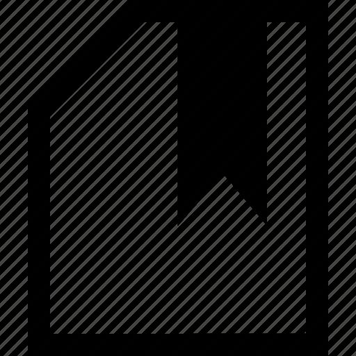 bookmark, documen, file, folder icon