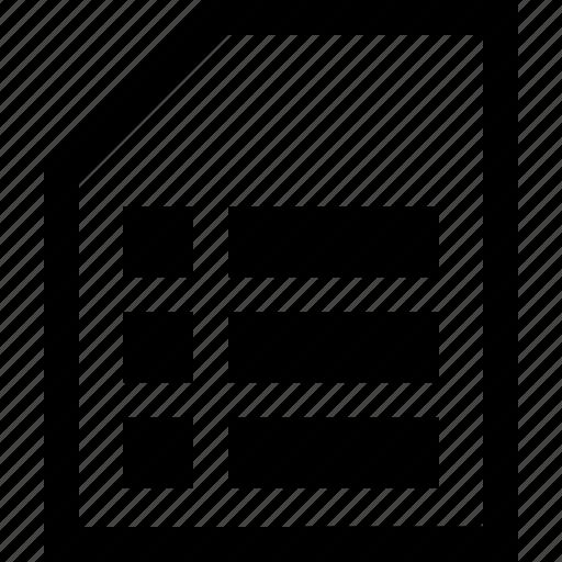 Documen, file, folder, list icon - Download on Iconfinder
