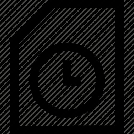 documen, file, folder, time icon