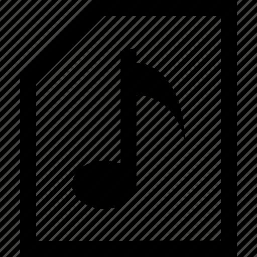 chord, documen, file, folder, music, tone icon