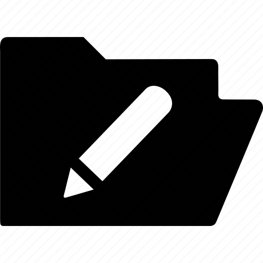 documen, edition, file, folder, pencil icon