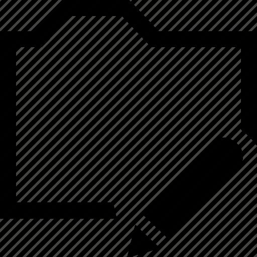 documen, edit, folder, pencil icon