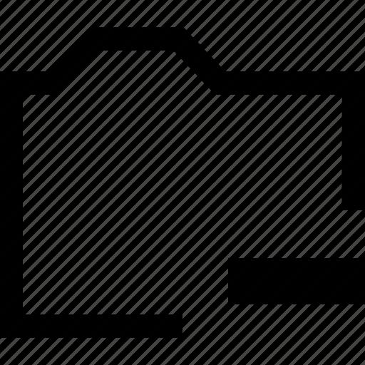 file, folder, minus, remove icon