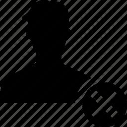close, male, man, people, user icon